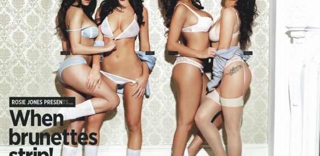 Rosie Jones, Holly Peers & India Reynolds Topless Nuts Magazine