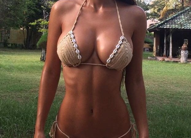 Stunning perfect bikini body girl